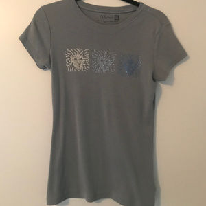 Gorgeous Anne Klein Bejeweled Body Hugging T-Shirt